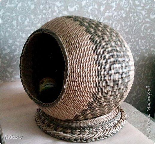 Изделия для питомцев Мастер-класс Плетение котошар и мк по подставке Трубочки бумажные фото 1