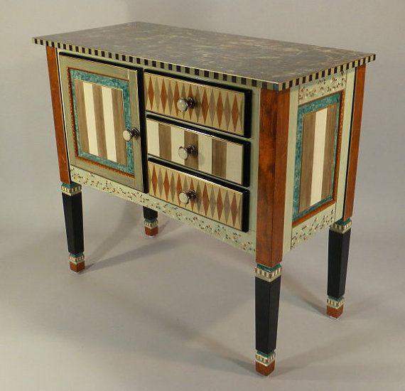 SERVING CABINET  BronzeRustAqua by SuzanneFitchGallery on Etsy, $2900.00