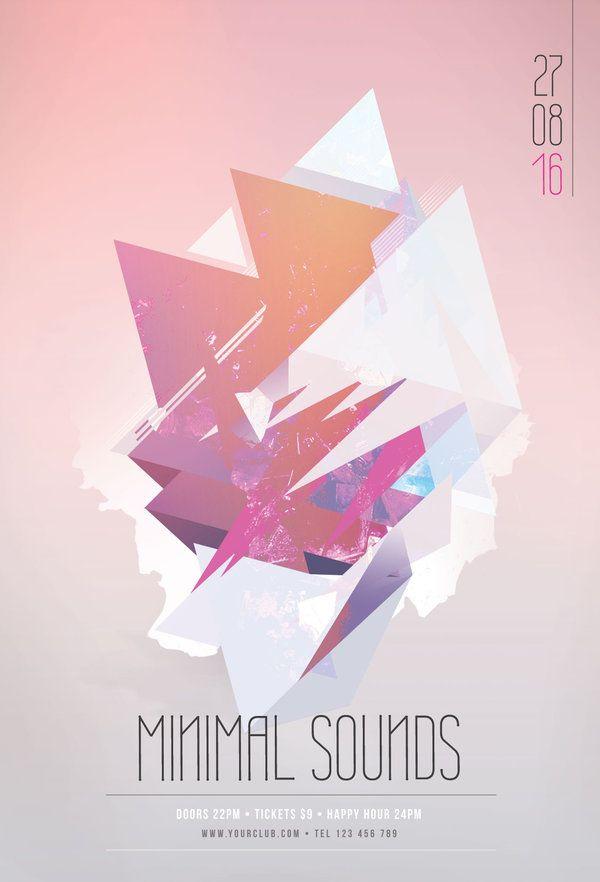 23 best Geometric Flyer Design images on Pinterest Flyer design - geometric flyer template