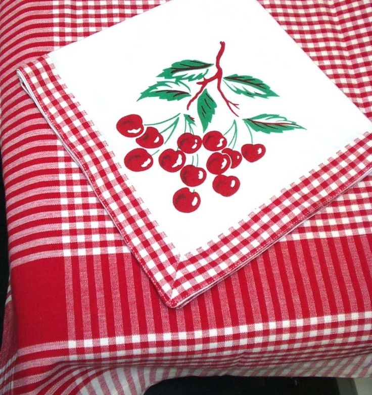 Cherries Tablecloth For The Kitchen Table For Summer...cherry Love!