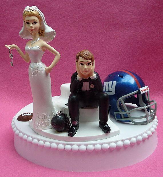 Wedding Cake Topper New York Giants Ny Football Themed