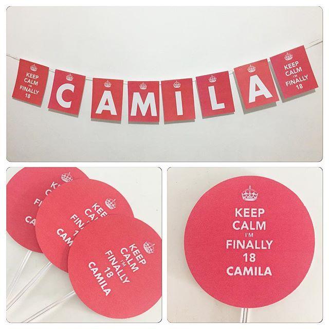 Fizemos um kit personalizado lindo para os 18 anos da Camila Nogueira! Parabéns, Camila! #kitpersonalizado #festaadulto #18anos #ratchimbum #novaodessa