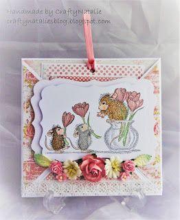 CraftyNatalie's Blog!: Flower Arranging Crossover Card