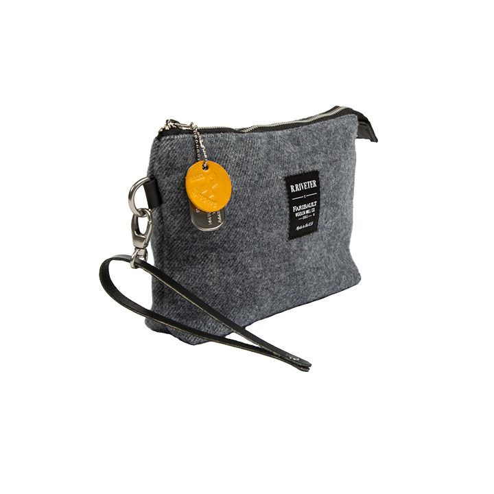 R. RIVETER ANNE GREEN POUCH - GRAY