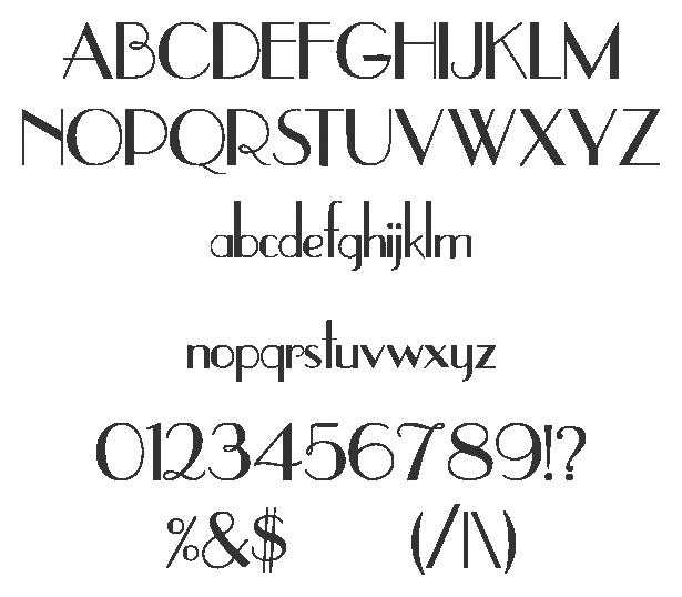 Font for Address Numbers