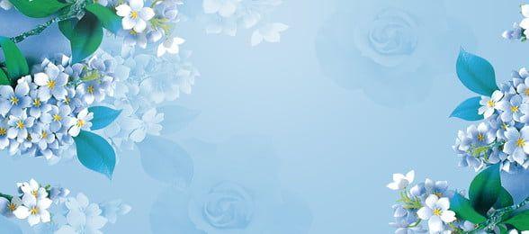 Watercolor Flower Floral Blue Background Flower Background Wallpaper Blue Flower Painting Blue Flower Wallpaper Blue flower wallpaper cartoon
