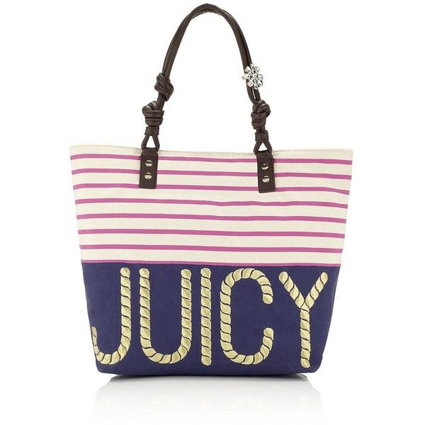 Juicy Couture Striped Beach Tote found on Polyvore