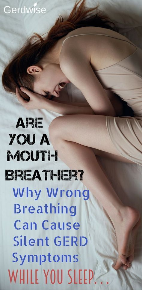 Are you a Mouth Breather? Wrong breathing can cause LPR symptoms or Silent GERD symptoms. Check out this article to find out more! #AcidRefluxRemedies
