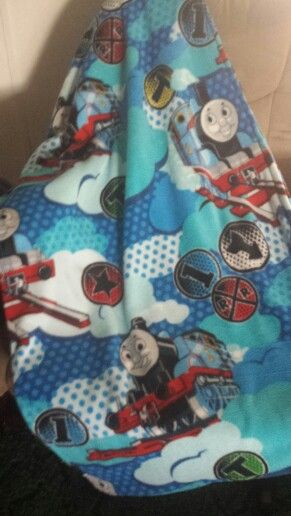 Thomas The Train Fleece Blanket I Made Bought Fabric From