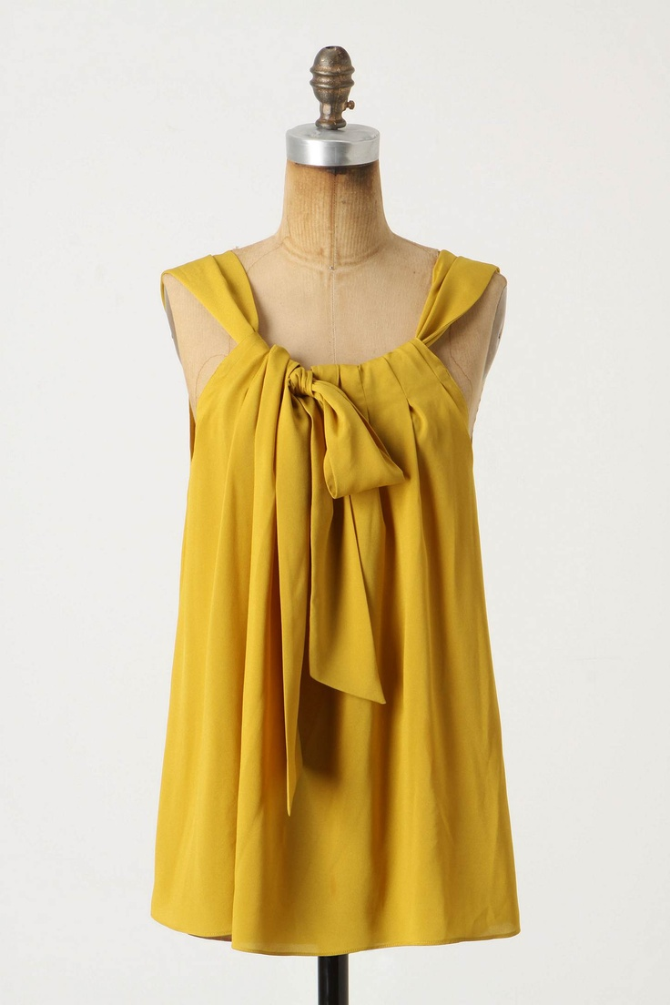 yellow: Pull Ribbons Fabr, Adult Easy Sewing Dresses, Pillows Cas, Tanks Diy, Sewing Side, Diy Shirts, Easy Sewing Tanks Tops, Easy To Sewing Tanks Tops, Mustard Yellow