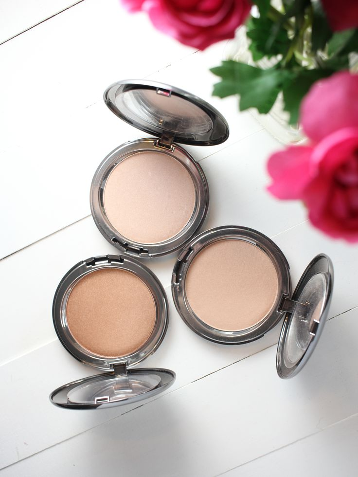 Cover FX The Perfect Light Highlighting Powder- Sunlight, Moonlight, Candlelight. Great, natural looking highlighters that will look beautiful on every skin type as well as aging skin.