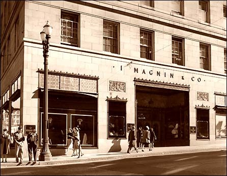 I Magnin store in downtown Seattle 1926 to 1993. Mom used to sketch the expensive clothes and come home and reproduce the designs herself.