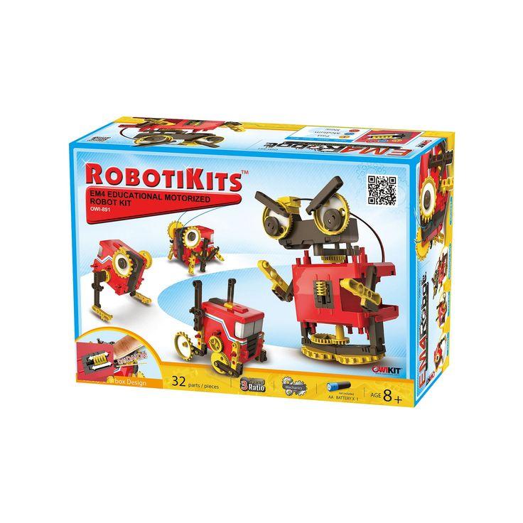 EM4 Educational Motorized Robot Kit, Multicolor