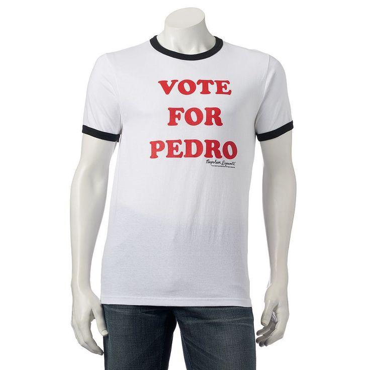 Men's Napoleon Dynamite ''Vote For Pedro'' Tee, Size: Medium, White Oth
