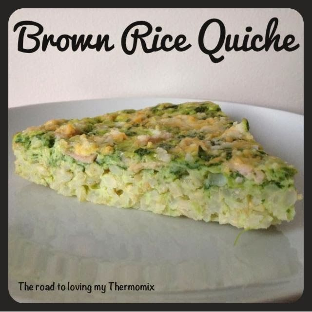 Brown Rice Quiche using the Bellini