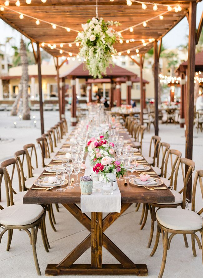 Elegant Beach Wedding In Cabo Beach Wedding Colors Rustic Beach