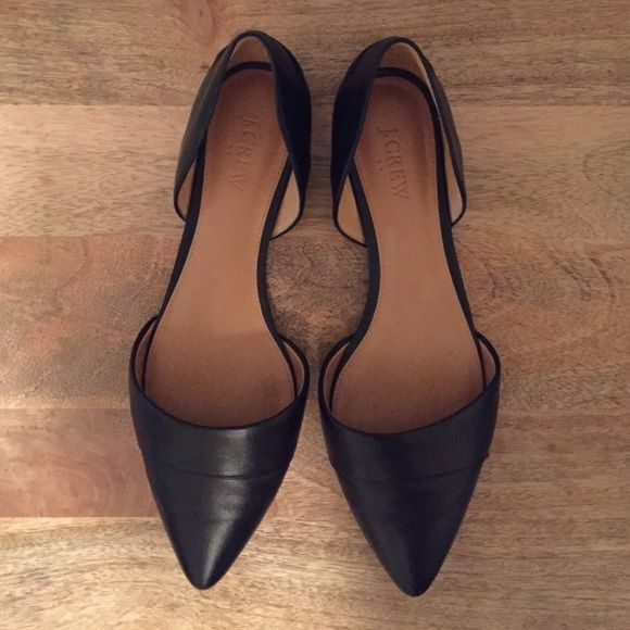 J. Crew d'orsay leather flats Black leather d'orsay flats J. Crew Shoes Flats & Loafers
