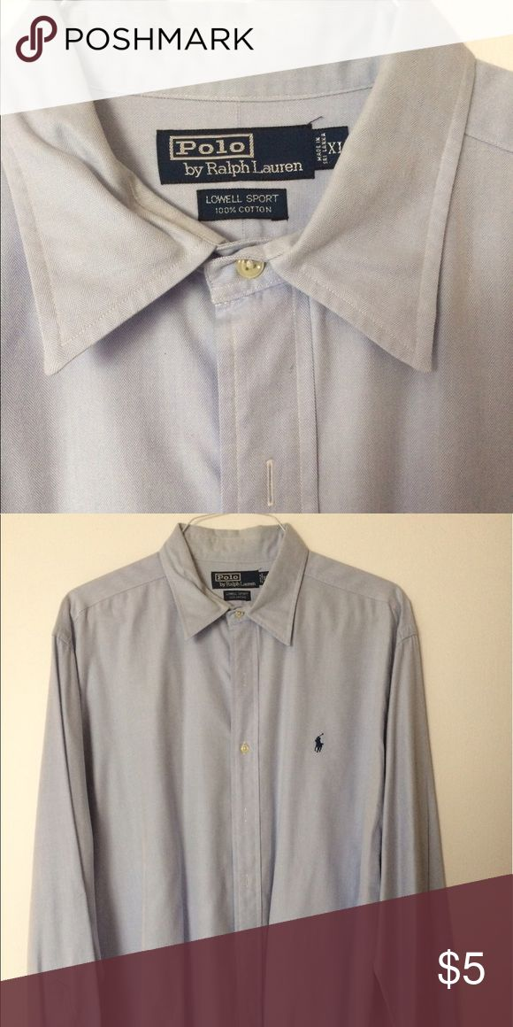 Ralph Lauren Polo Dress Shirt Gently used, pale blue button down. Men's casual dress shirt Ralph Lauren Shirts Casual Button Down Shirts