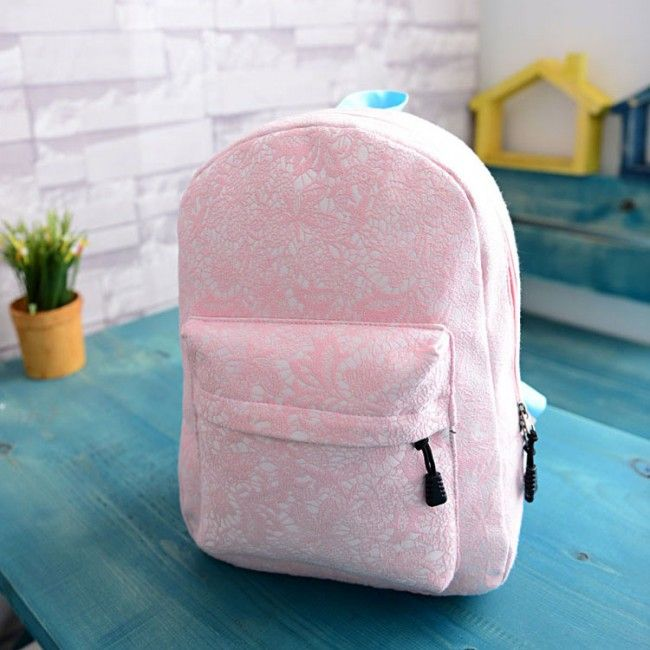 Finally! I found the Sweet Pink Floral Lace Nice Backpack Girl's Schoolbag from ByGoods.com. I like it so so much!