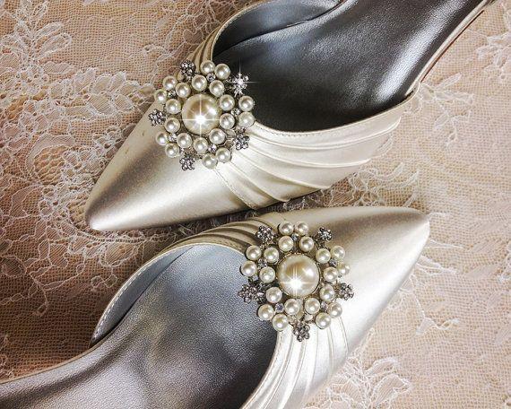 Wedding Shoe Clips Bridal Shoe Clip Crystal Shoe clip by VioGemini, $39.99