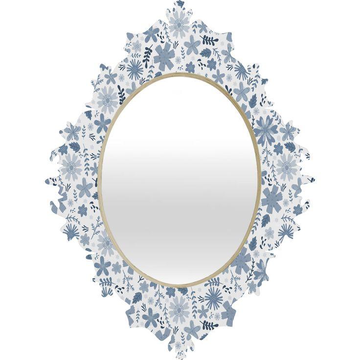Jennifer Denty Genevieve Florals Big Wall Mirror   Wayfair