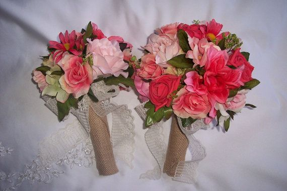 Coral and navy wedding bouquets coursages. boutonnieres or