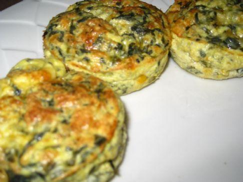 Crustless Spinach Mini-Quiche | Recipe | Spinach, Quiche and Eggs