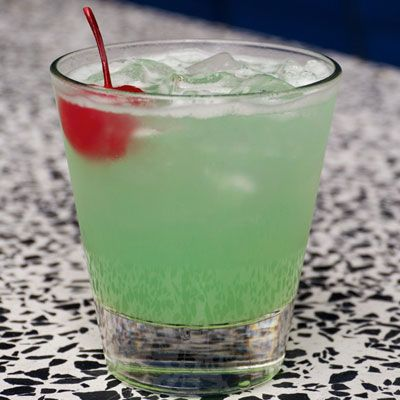 Sea Mist (1 oz. Bacardi coconut rum  A splash of blue curacao  1 oz. triple sec  1 oz. pineapple juice)