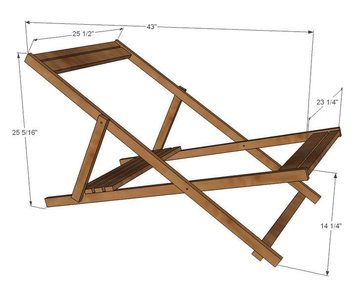 Ana Branco | Madeira Folding Sling Chair, cadeira de plataforma ou cadeira de praia - Adult Size - Projetos DIY