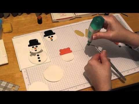 ▶ My Punch Art Studio How to make Punch Art Snowmen - YouTube