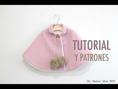 DIY Tutorial y patrones de abrigo capa para niñas o bebés: como hacer paso a paso esta capa. Los patrones los tenéis disponibles y gratis en el blog. En este...