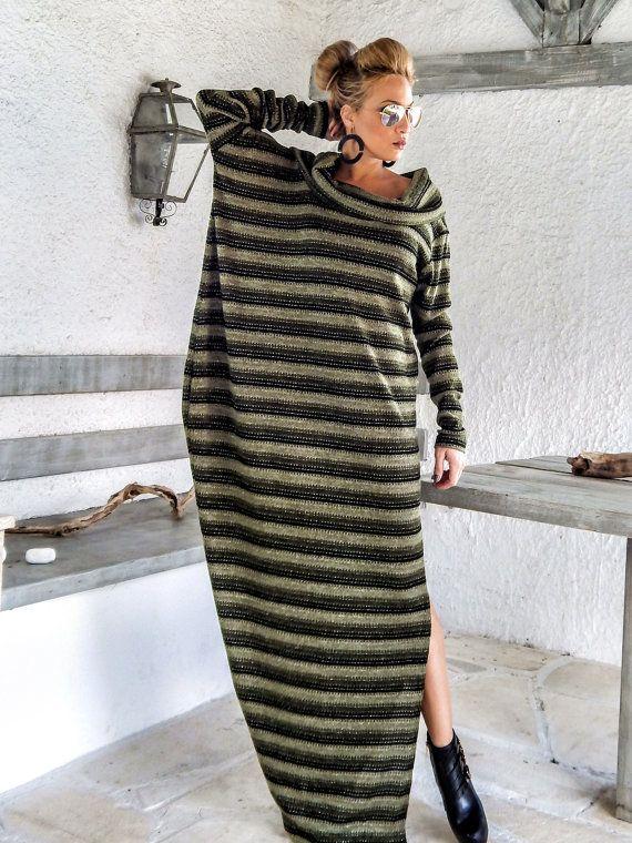 Caliente lana vestido Kaftan / invierno caliente largo vestido