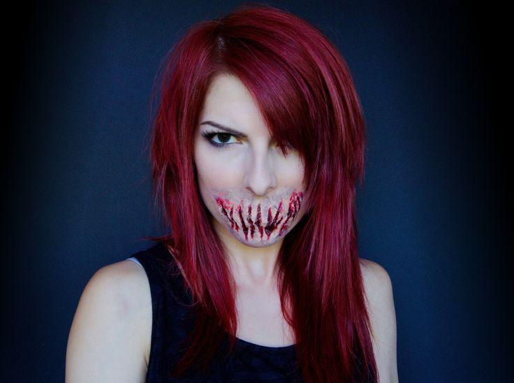 halloween makeup  devil lips demon lips demon makeup fx