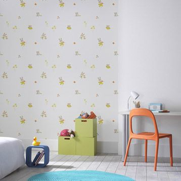 63 best images about chambre d 39 enfants children bedroom - Papier peint chambre adulte leroy merlin ...