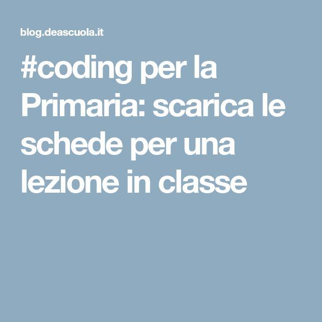 #coding per la Primaria: scarica le schede per una lezione in classe