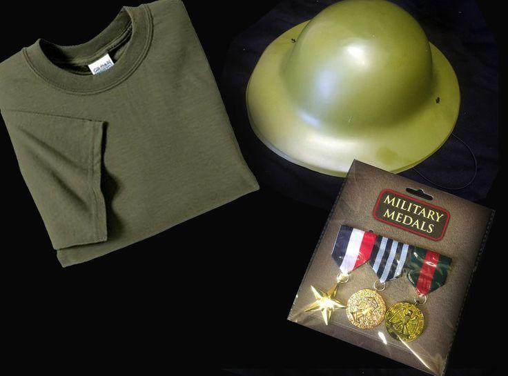 Child WW1 WW2 Army Fancy Dress Military Fancy Dress Costume Armed Forces VE Day