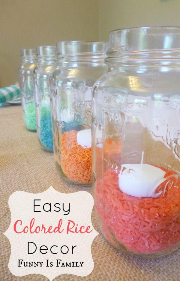 Colored Rice Decor