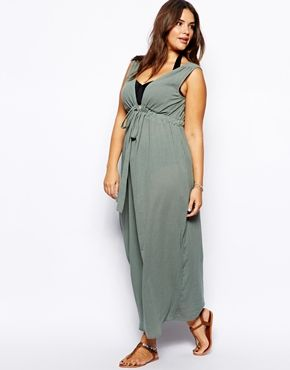Image 4 ofASOS CURVE Exclusive Maxi Dress In Cheesecloth