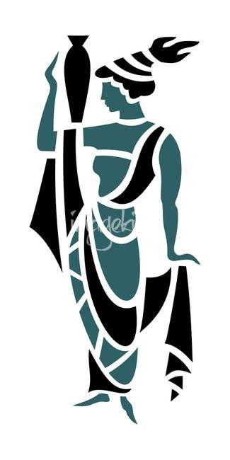Greek Woman in Teal by Donna Mibus
