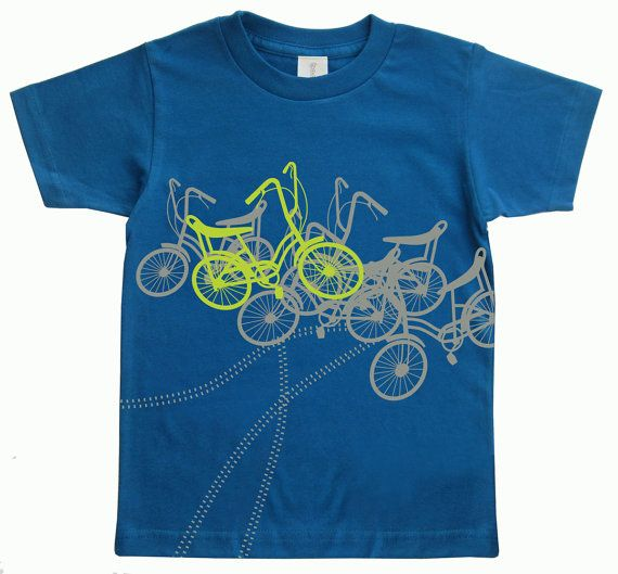 Gifts for toddler boy Bicycles Toddler Organic TShirt Blue - Direct Checkout