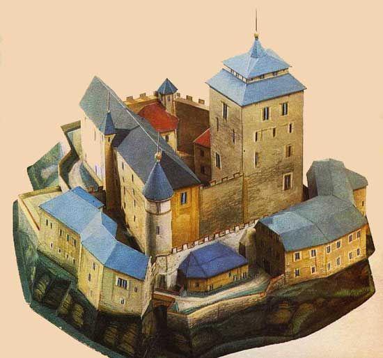 Kost Castle Free Building Paper Model Download - http://www.papercraftsquare.com/kost-castle-free-building-paper-model-download.html#BuildingPaperModel, #Castle, #KostCastle