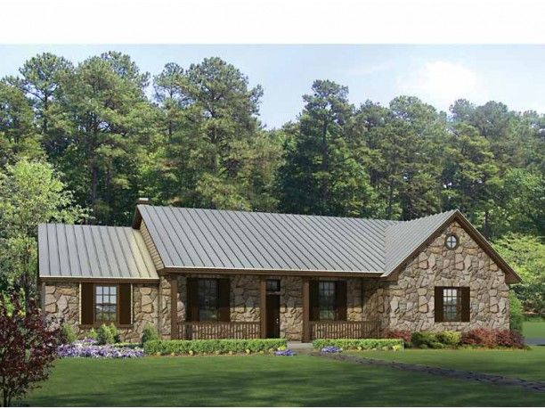 Texas hill country style! Ranch House Plan from DreamHomeSource.com.