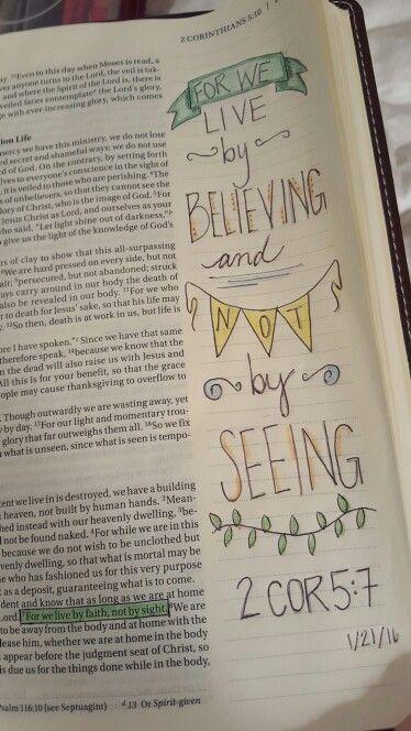 2 Coríntios 5:7