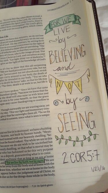 Bible journaling pages that I've completed