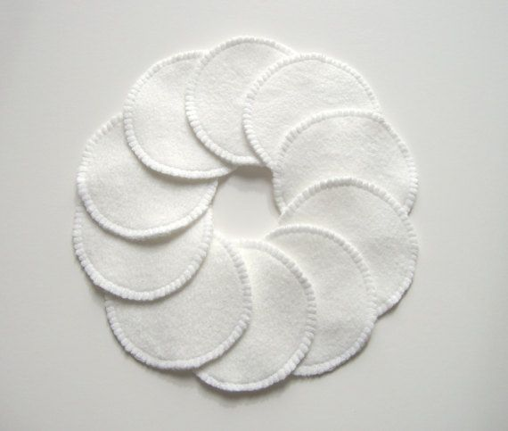 10 biologische Make-up Remover Pads bamboe Fleece