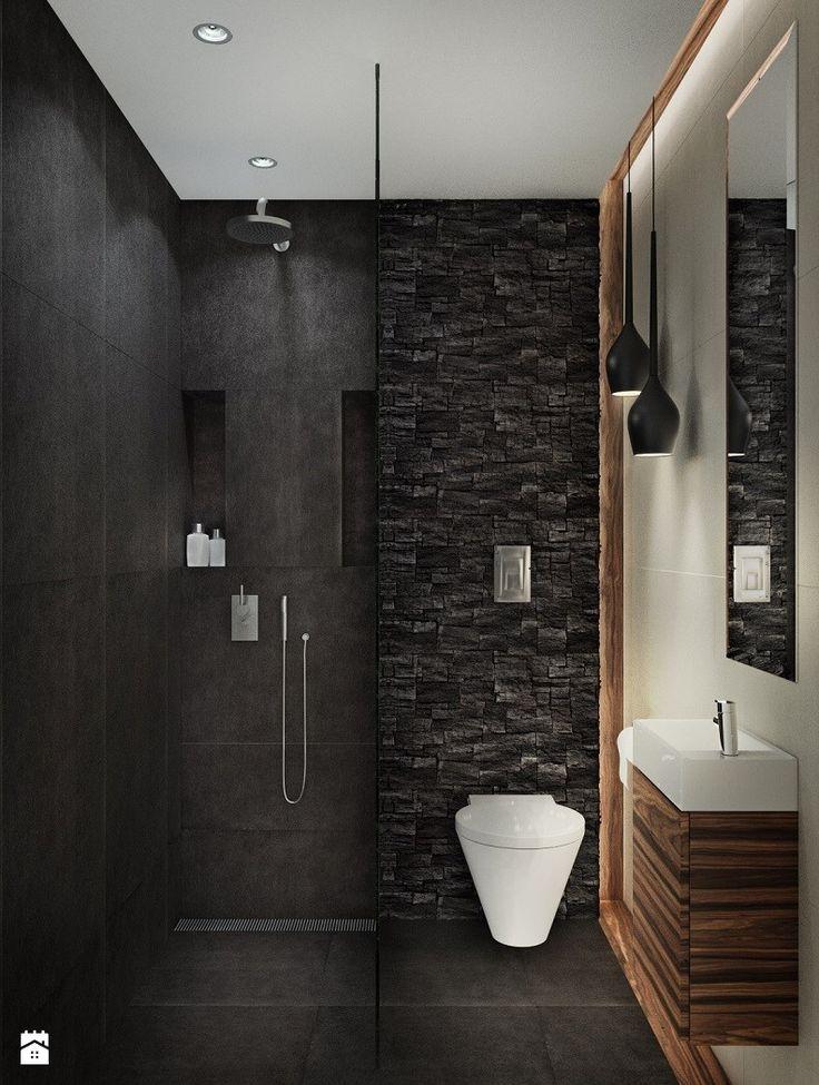 Wc przy salonie i pokoju gościnnym z prysznicem dla gości - zdjęcie od Mogho-Design - Łazienka - Styl Nowoczesny - Mogho-Design