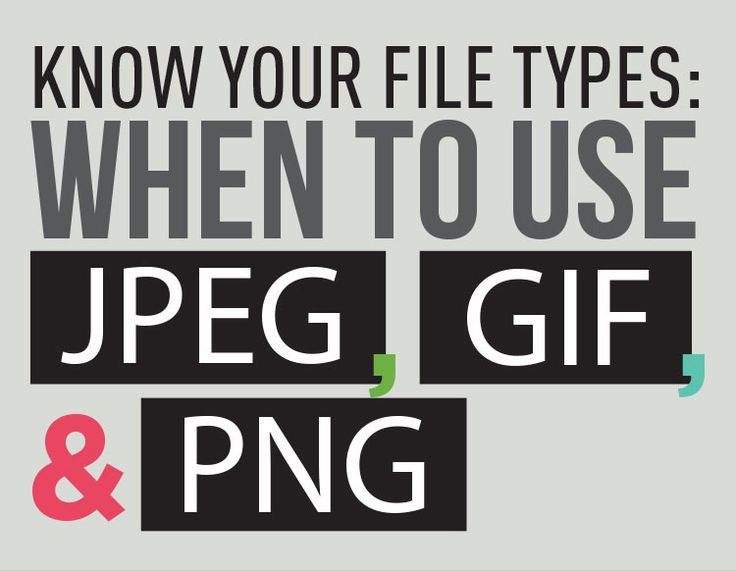This infographic showcases the best uses for JPEG, GIF, and PNG file formats that lets us know exactly which file type is the best to use when saving images.