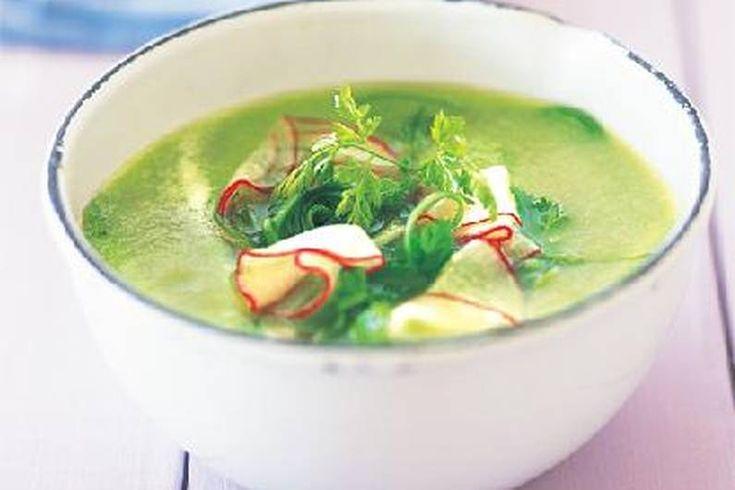 Das Rezept für Kalte Gurkensuppe mit allen nötigen Zutaten und der einfachsten Zubereitung - gesund kochen mit FIT FOR FUN