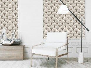Seigaiha wallpaper.