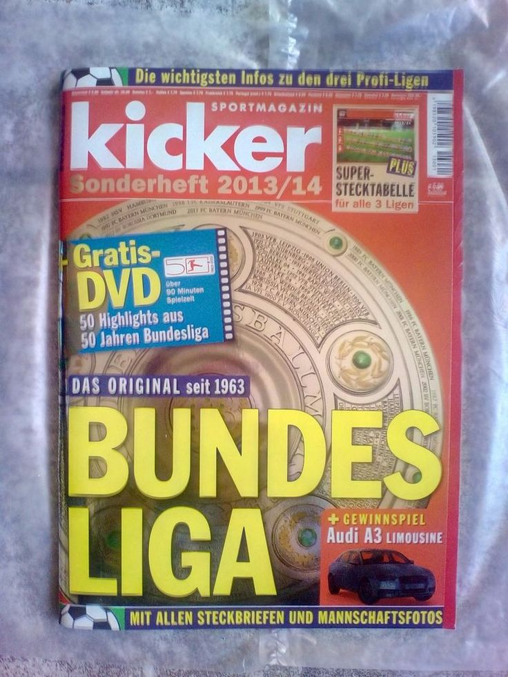 Kicker!BUNDESLIGA!Sonderheft  2013/14!NEU!MIT GRATIS-DVD!